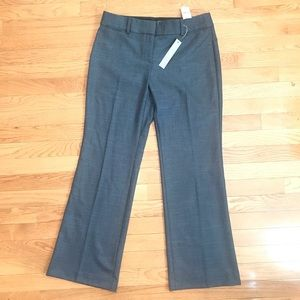 Loft Marisa Stretch Gray Trousers Size 6P NWT